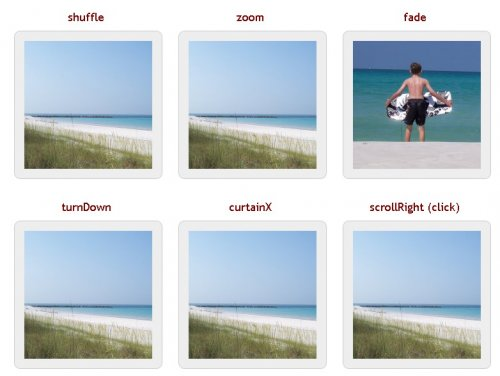 Slideshow jQuery plugin that supports many different types of transition effects - jQuery Cycle