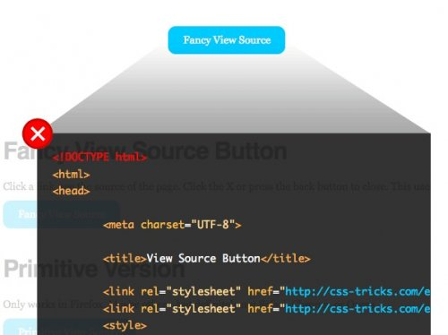 How to create view source functionality Button - SourceView