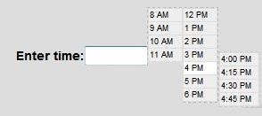 Plugin jQuery selector de tiempo(timepicker)-ClockPick