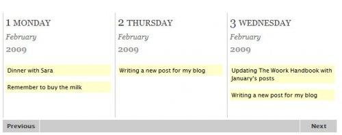 Linea de tiempo semanal elegante y animada para sitios web-WeeklyTimeLine