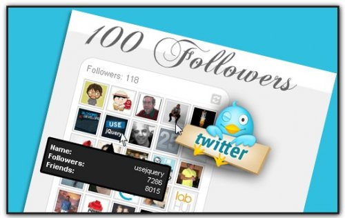 How to display your Twitter Followers or Friends with ajax - TwitterApi