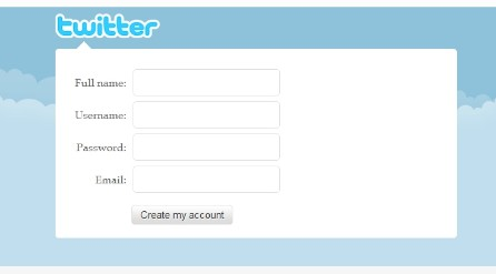 Twitter Sign-up Page using HTML5 And CSS3 - SignUp Page