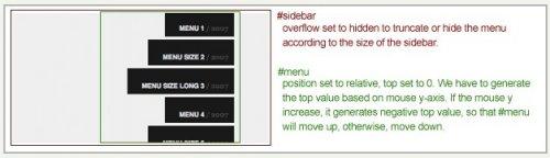 Tutorial para crear un menú vertical scroleable con jQuery-VerticalMenu