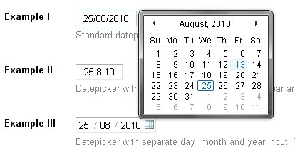 Calendario estilo windows vista en javascript para aplicaciones web - Vista-likeCalendar